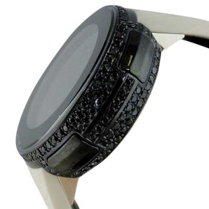 Gucci YA114403 Digital Genuine Black Diamond Two Timezone Watch