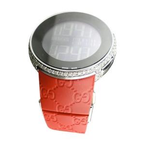 Gucci I White Diamond Black Digital  5 Ct Diamond Watch