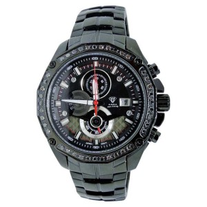 Aqua Master Jojo Joe Rodeo W 336 Real PVD 43 MM 1.5 Ct Black Diamond Mens Watch