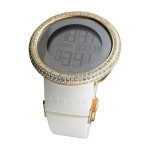 Gucci Digital YA114216 Gold Clear 13 Ct Diamond Mens Watch
