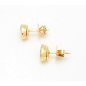 Bulgari 18K Yellow Gold Diamond Stud Earrings
