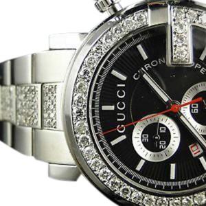 Gucci Ya101338 Black Pvd 6.0Ct Diamond 101G Mens Watch