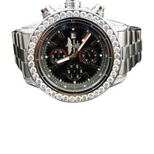 Breitling Super Avenger Aeromarine Genuine 10 Ct Diamond Mens 53 MM Watch
