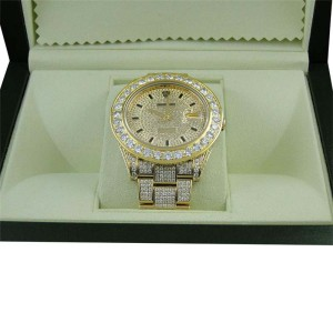Rolex Mens Diamond Gold Datejust II 45mm Watch