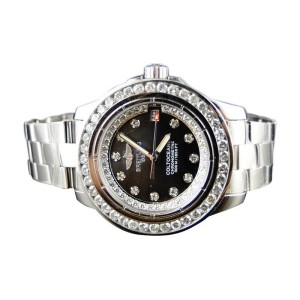 Breitling Aeromarine Colt Ocean 2.75 Ct Diamond Womens Watch