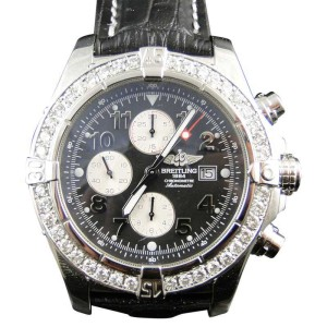 Breitling Super Avenger 1 Row Aeromarine Genuine Diamond Mens 48 mm Watch
