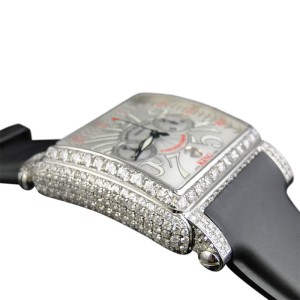 Franck Muller 16.65 Ct King Conquistador Cortez Iced Out Diamond Mens Watch