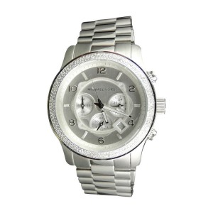 Micheal Kors 45mm Stainless Steel Watch with Custom Set Diamonds