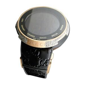 Gucci YA114102 Digital XXL Latin Grammy Rose Gold Diamond Mens Watch