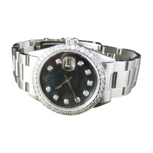 Rolex Datejust Oyster Stainless Steel Diamond with 2.15 Ct Mens Watch