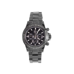 Techno Com KC Daytona Black Stainless Steel 1.9Ct Diamond 41mm Unisex Watch