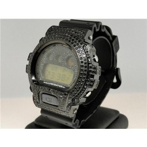 Casio G Shock 6900 Jojino Aqua Master Black Simulated 7.50 Ct Diamond Mens Watch