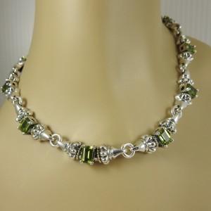 Lagos Glacier Sterling Silver Peridot Necklace
