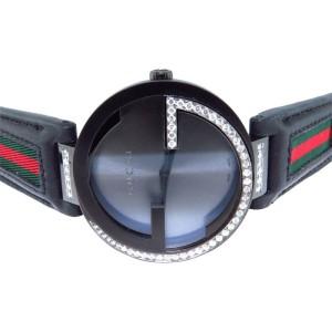 Gucci YA133206 Black PVD  XL Interlocking GG 1.25 ct Diamond Watch 42mm