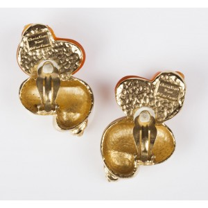 Christian Dior Massive Runway Shell Clip-On Earrings