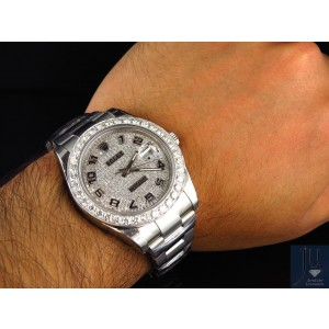 Rolex Custom Mens New 41mm 116300 Date Just II 2 With Genuine Diamonds 7 Ct Watch