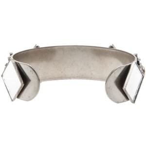 Dannijo Futuristic Mirrored Venice Cuff Bracelet