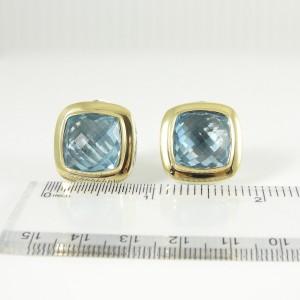 David Yurman Albion Sterling Silver Blue Topaz Earrings