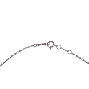 Tiffany & Co Elsa Peretti Sterling Silver Open Heart Necklace