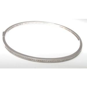 18K White Gold Diamond Bangle Bracelet