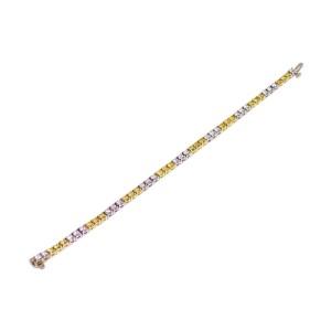 18K White Gold, 18K Yellow Gold Diamond Bracelet