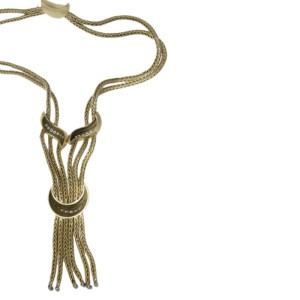 Tiffany & Co.18kt Yellow Gold and Diamond Tassel Necklace