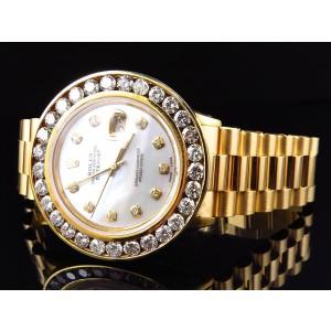 Rolex Datejust XL 7.2 Ct Diamond Bezel Presidential Style Mens Watch