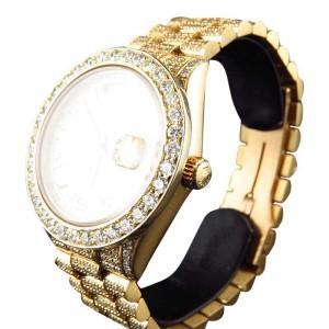 Rolex Presidental Day-Date 18K Diamond Yellow Gold 36mm Diamond Mens Watch