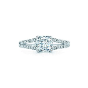Tiffany & Co. Platinum 1.31 tcw. Diamond Lucida with Diamond Band
