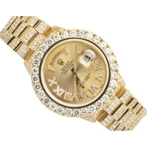 Rolex Presidential Day-Date 18K Mens 23.75 Ct Yellow Gold 36mm Diamond Watch