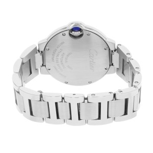 Cartier Ballon Bleu WE902074 Steel & Diamonds Automatic Ladies Watch