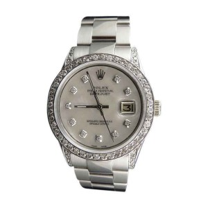 Rolex Stainless Steel Datejust New Oyster 36mm Mother Pearl Watch