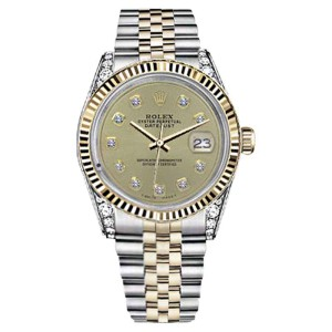 Rolex Datejust Champagne Color Diamond Accent Dial Woman's 26mm