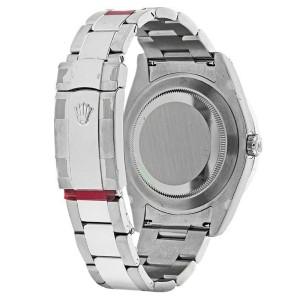 Rolex 116334 Datejust II Ice Blue Diamond Dial Gold Bezel 41mm Automatic Watch