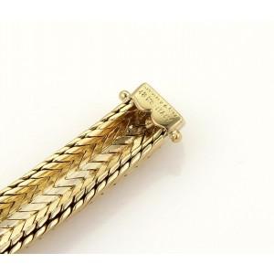 Tiffany & Co. 18K Yellow Gold Woven Dome Flex Bracelet
