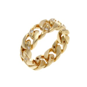 Gucci 18K Yellow Gold & Diamond Band