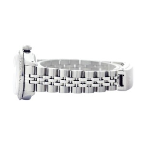 Rolex Datejust Oyster Perpetual Stainless Steel/18K White Gold Meteorite Diamond Womens Watch