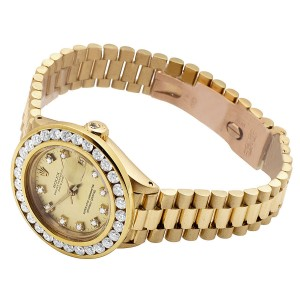 Rolex Presidential Datejust 6901 18K Yellow Gold 3.5ct Diamond Watch