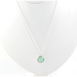 Ippolita Lollipop Sterling Silver Chrysoprase Doublet and 0.14 Ct Diamond Pendant Necklace