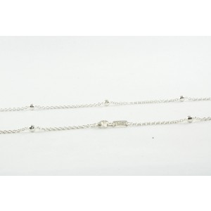 Ippolita .925 Sterling Silver Mini Hammered Long Ball Chain Necklace