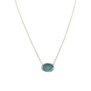 Ippolita Stella Sterling Silver Quartz, Turquoise and 0.14 Ct Diamond Oval Pendant Necklace