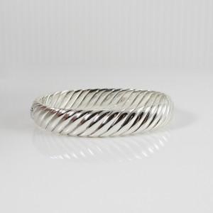 David Yurman Sculpted Cable Sterling Silver Blue Topaz Bracelet