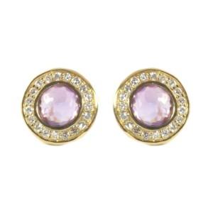 Ippolita 18K Yellow Gold Purple Amethyst Diamond Mini Stud Earrings