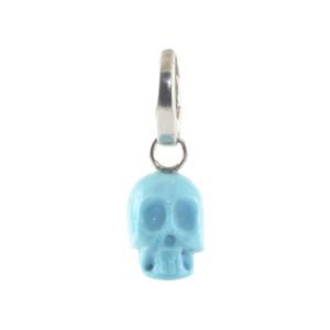 Ippolita Sterling Silver with Turquoise Skull Charm Skeleton Pendant