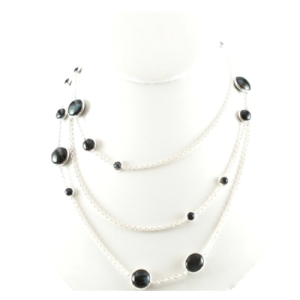 Ippolita Sterling Silver with Blue Tigers Eye Chain Necklace