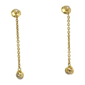 Cartier Love Knot 18K Yellow, White & Rose Gold 0.12ct Diamonds Drop Dangle Earrings