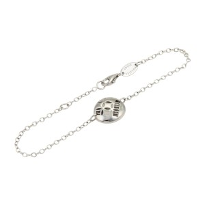 Louis Vuitton 18K White Gold Monogram Gallea Round Charm Bracelet
