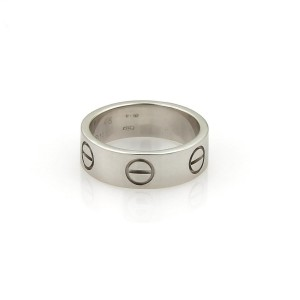 Cartier Love 18K White Gold Band Ring Size 4.25