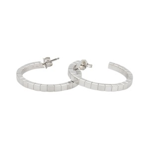 Cartier Lanier 18K White Gold Hoop Earrings