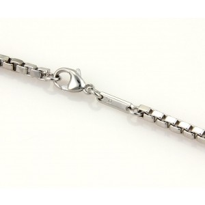 Chopard 18K White Gold Box Link Chain Necklace